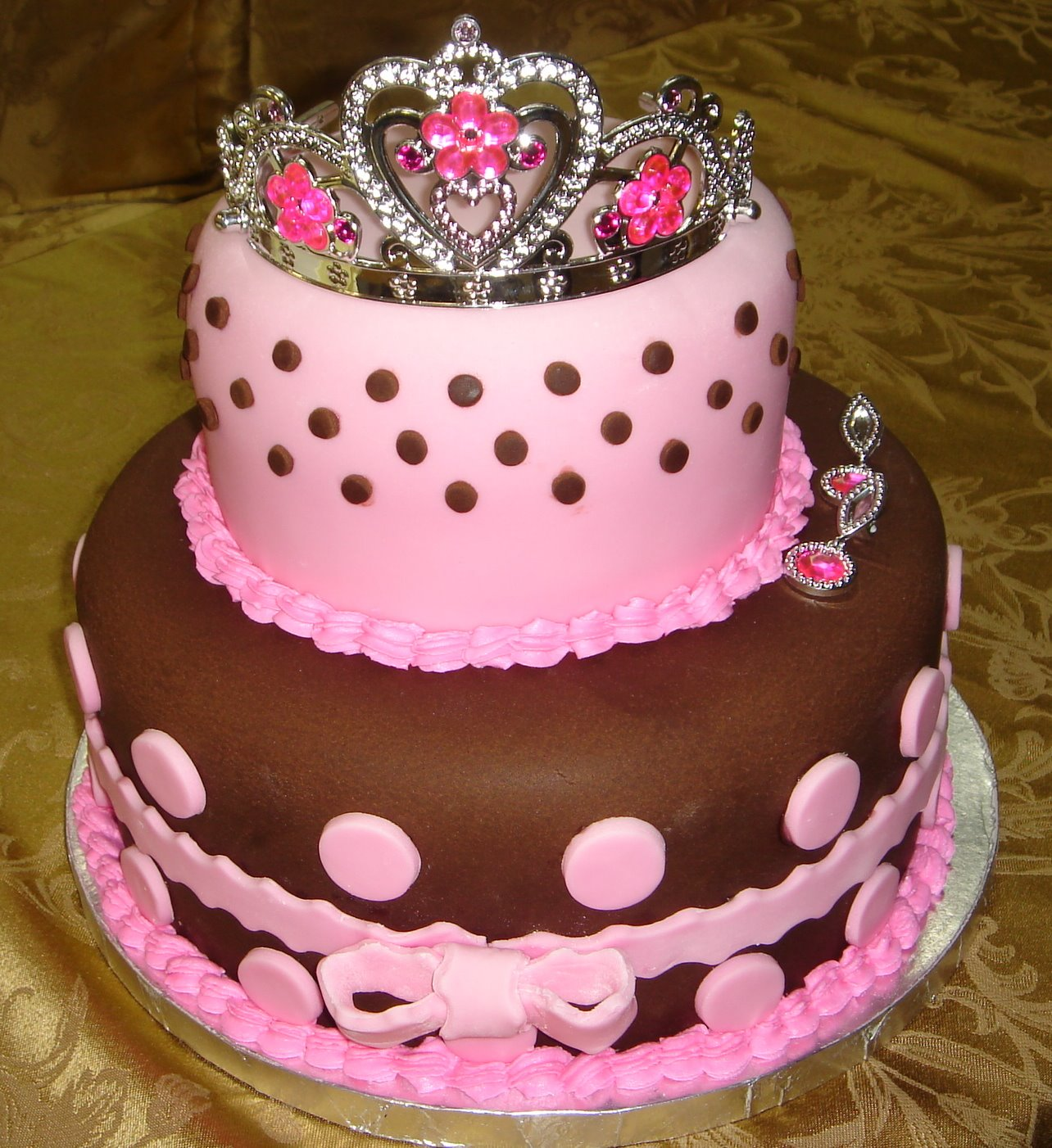 Cake Birthday Kids Fondant Buttercream Princess Castle