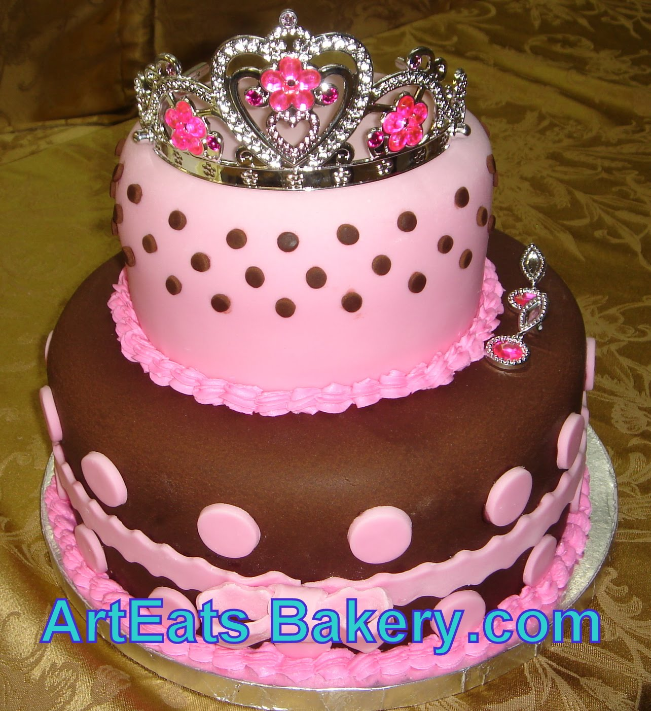 cake birthday kids fondant buttercream princess castle Art Eats Bakery