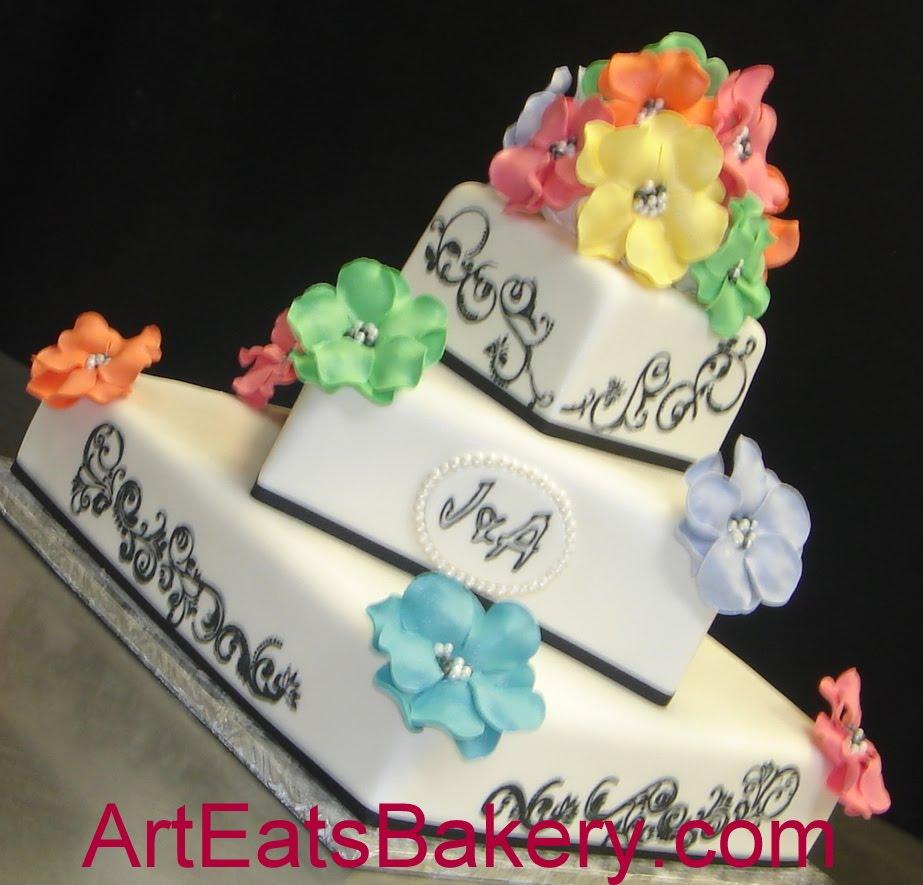wedding | Art Eats Bakery | Page 25 Elegant Rainbow Wedding Cake