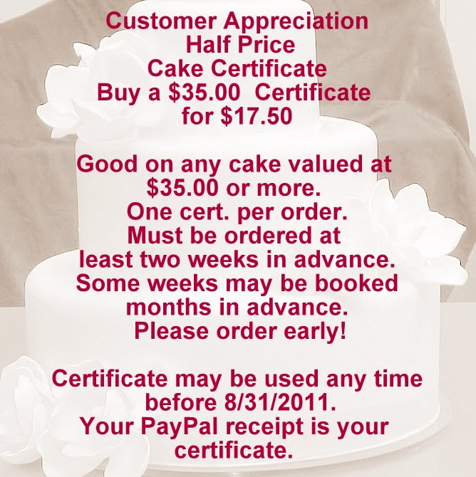 Coupon For Cake Art : special Art Eats Bakery