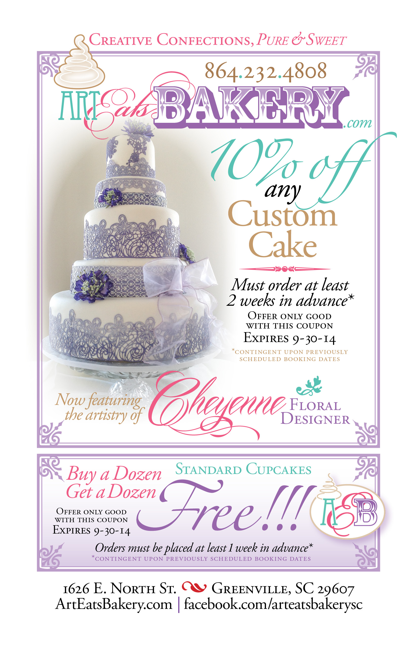 Coupon For Cake Art : Discount coupon for 10%off any wedding, Groom s or ...